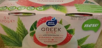Greek Style Strained Yoghurt - Raspberry - Produit - en