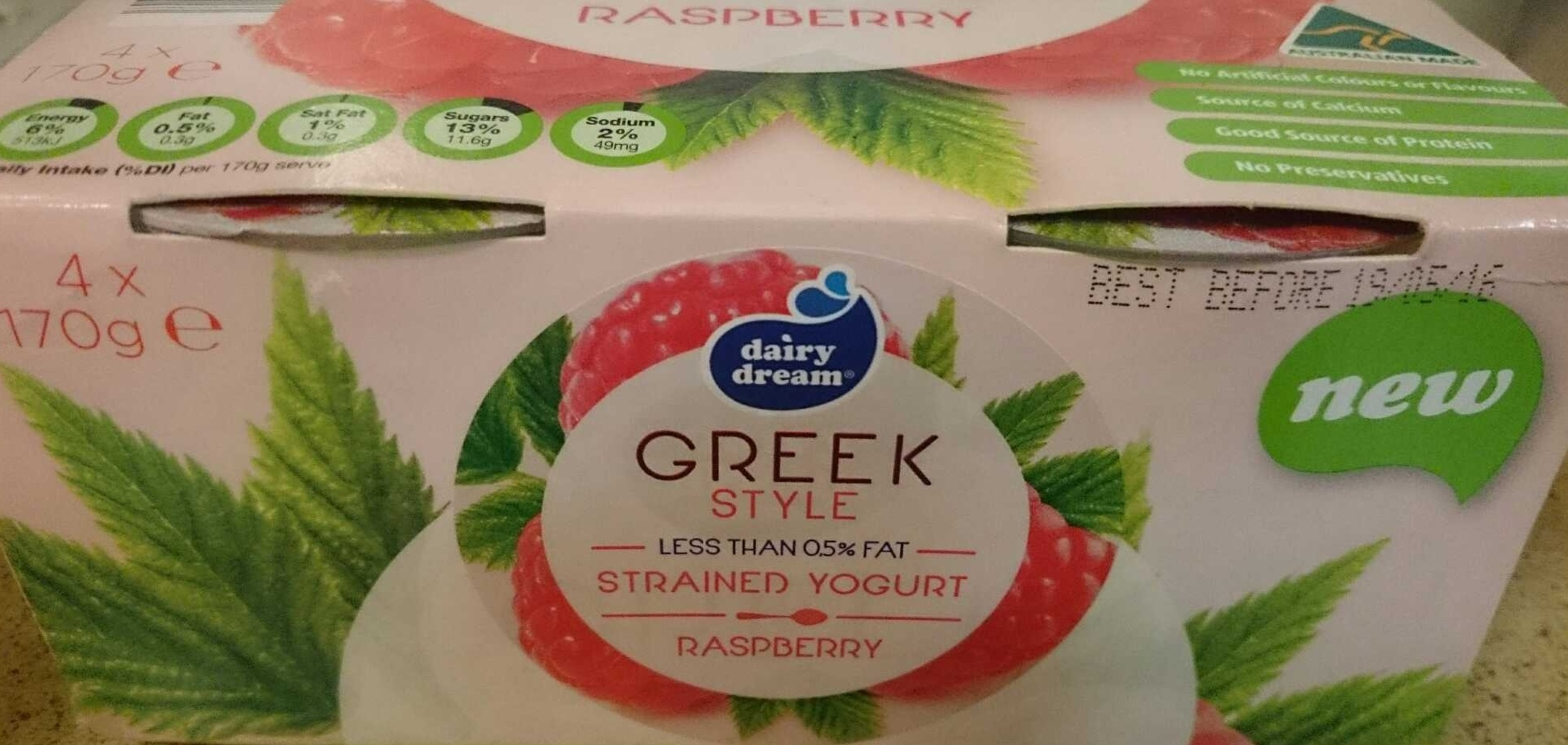 Greek Style Strained Yoghurt - Raspberry - Product