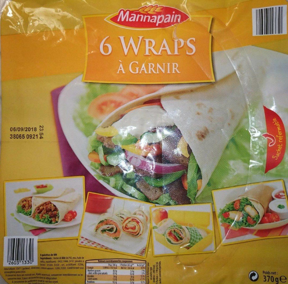 6 wraps à garnir - Product - fr