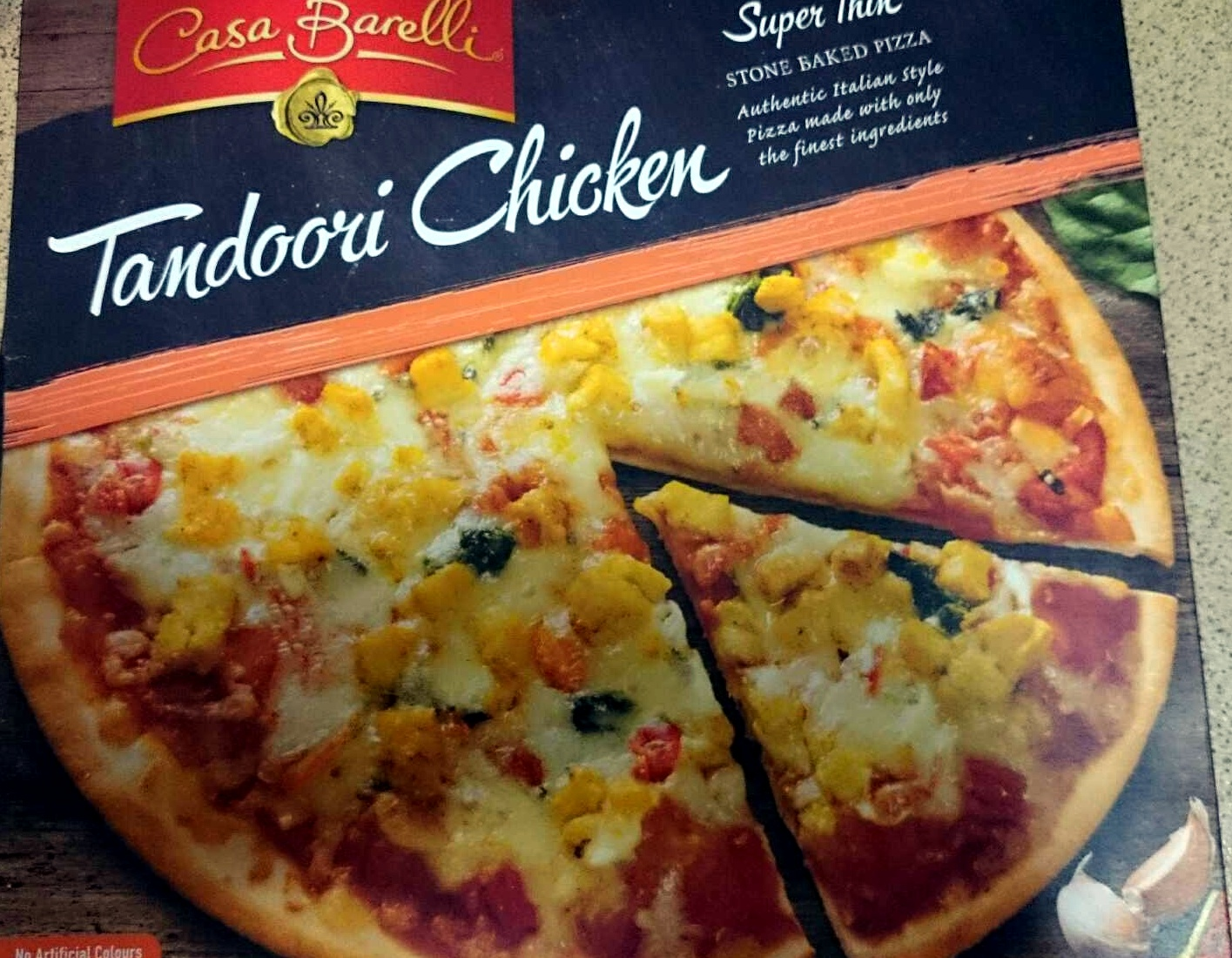 Casa Barelli Tandoori Chicken Super Thin Stone Baked Pizza - Product - en
