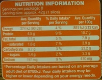Casa Barelli Tandoori Chicken Super Thin Stone Baked Pizza - Nutrition facts - en