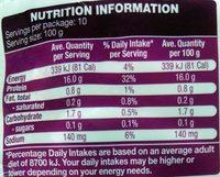 Marinara Mix - Nutrition facts
