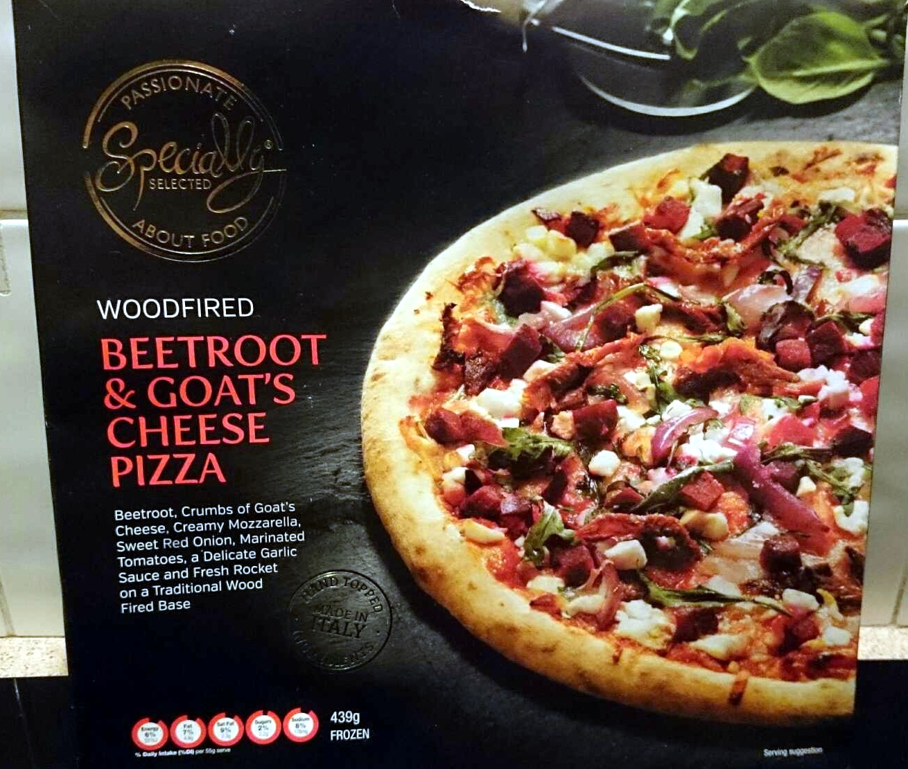 Woodfired Beetroot & Goats Cheese Pizza - Product - en