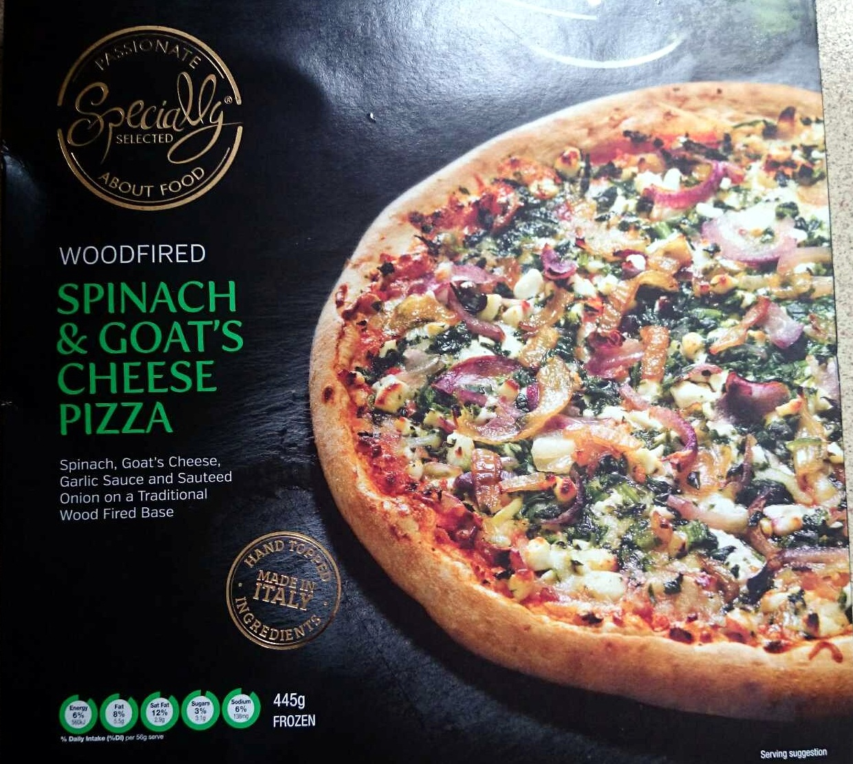 Spinach & Goats Cheese Pizza - Product - en