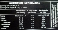 Spinach & Goats Cheese Pizza - Nutrition facts - en