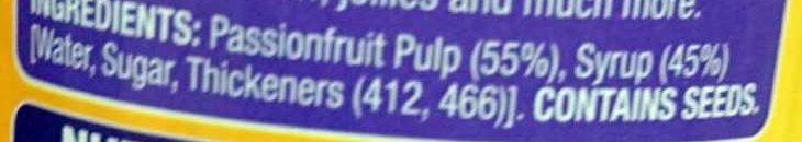 Passionfriuit Pulp - Ingredients - en