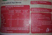 Goji Berries - Ingredients