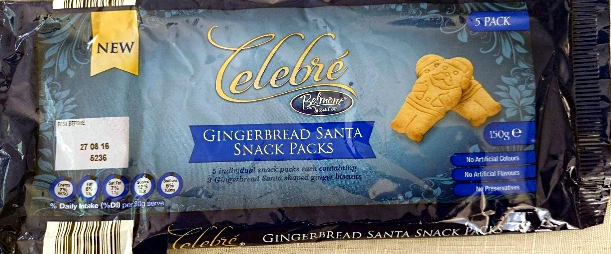 Gingerbread Santa Snack Packs - Product - en