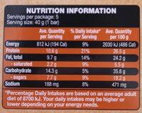 Protein Bars Salted Caramel - Valori nutrizionali - en