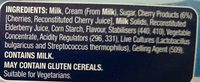 Greek Style Yoghurt - Cherry - Ingredients - en