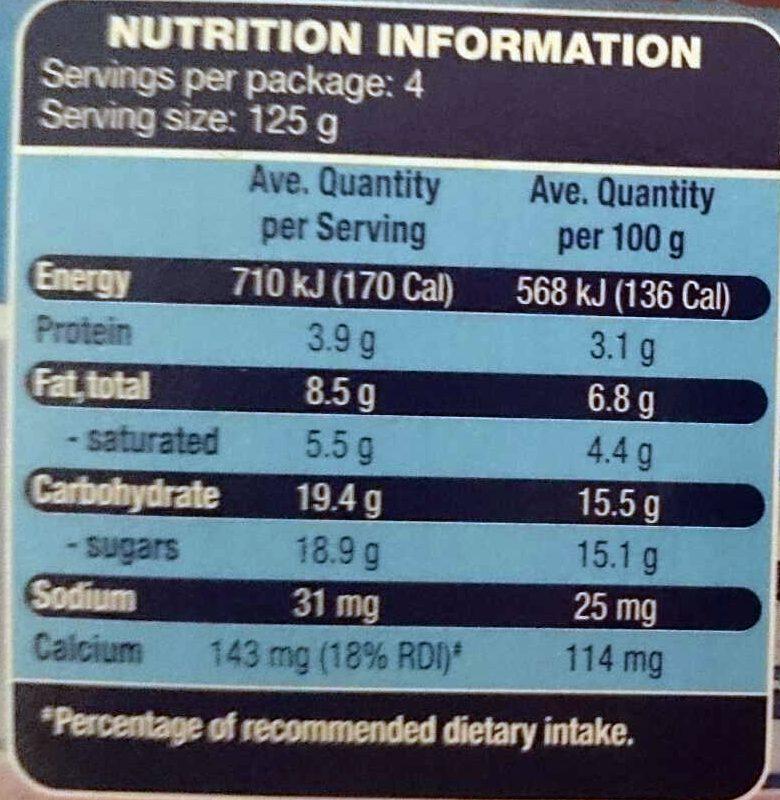 Greek Style Yoghurt - Cherry - Nutrition facts - en