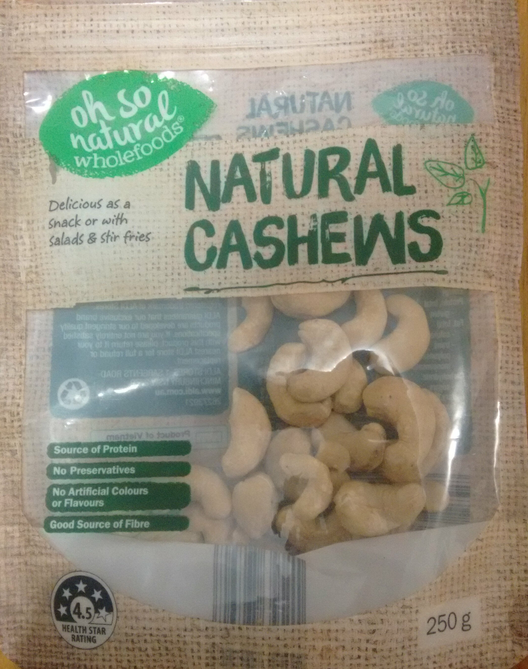 Natural Cashews - Produit
