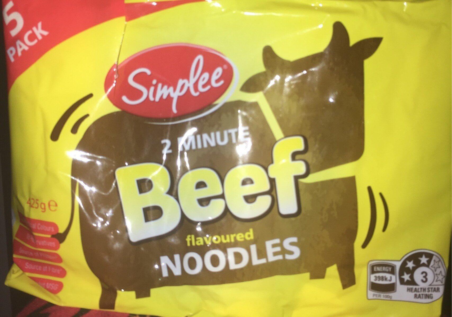 Beef flavoured noodles - Product - en