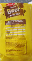 Beef flavoured noodles - Ingredients