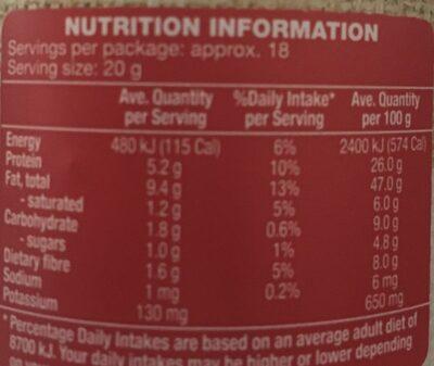 Crunchy peanut butter - Valori nutrizionali - fr