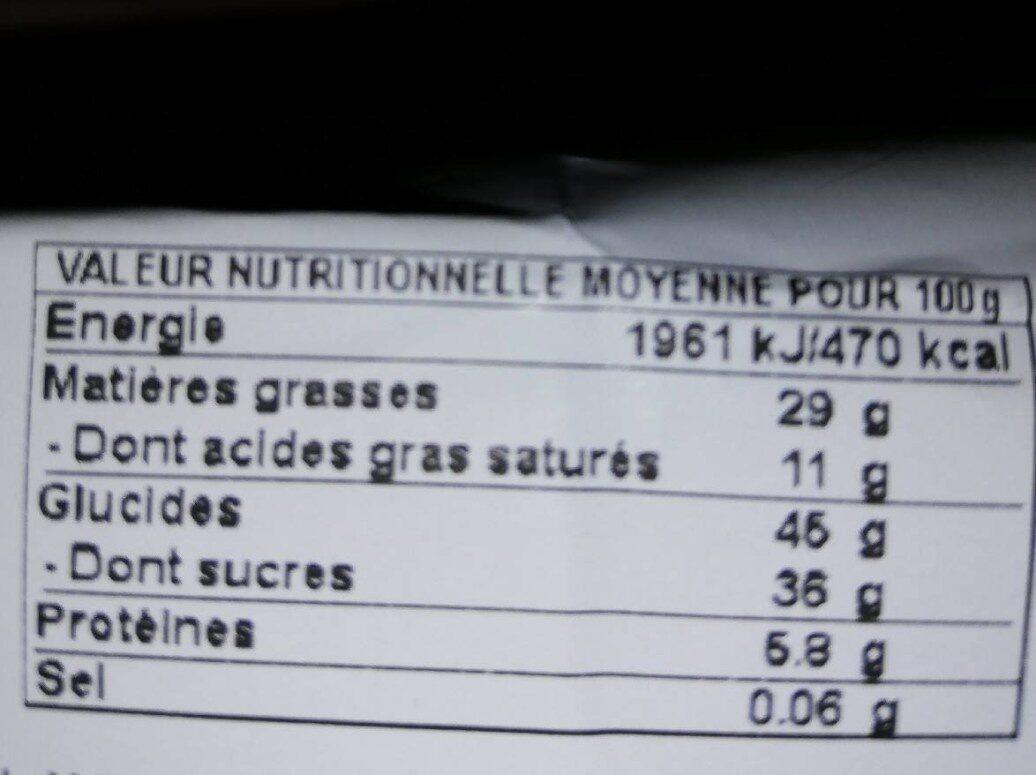 Brownies Décongelé - Nutrition facts - fr