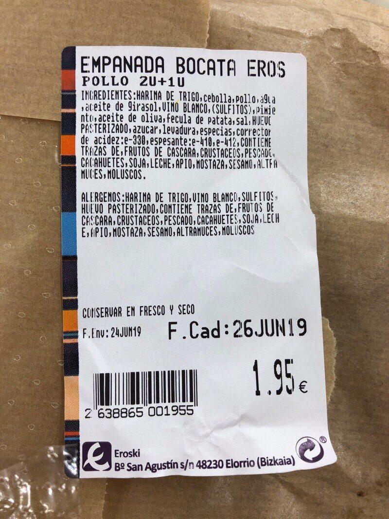 Empanada de pollo - Voedingswaarden