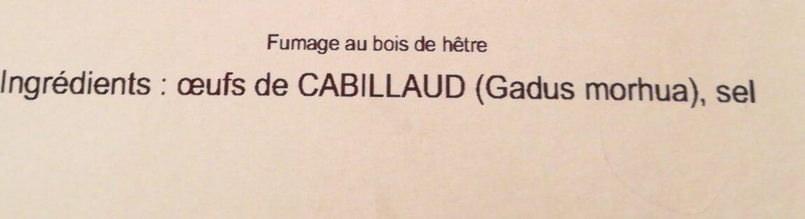 Œufs de cabillaud fumés - Ingredients - fr