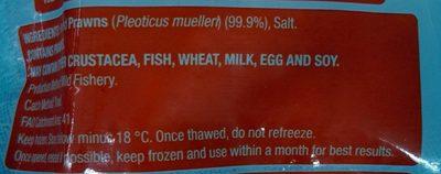 Wild Raw Peeled Prawns - Ingredients
