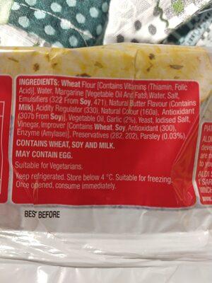 piatti fresh garlic bread - Ingredients - en