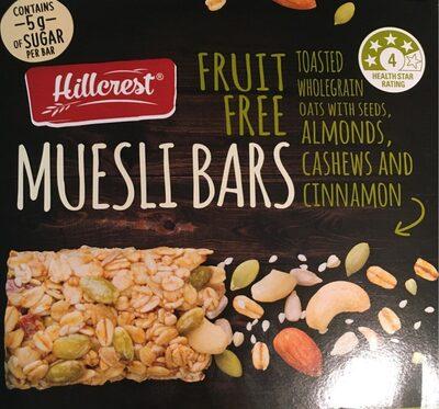 Muesli Bars Fruit Free - Produit - fr