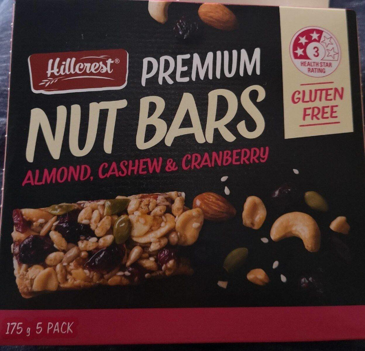 Premium Nut Bars - Almond, Cashew, Cranberries - Product