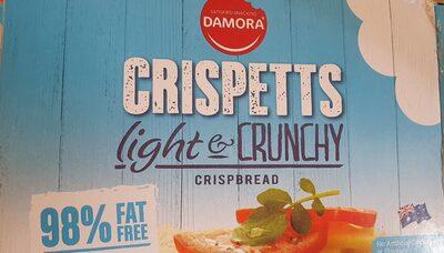 Crispetts light & crunchy crispbread - Product - en