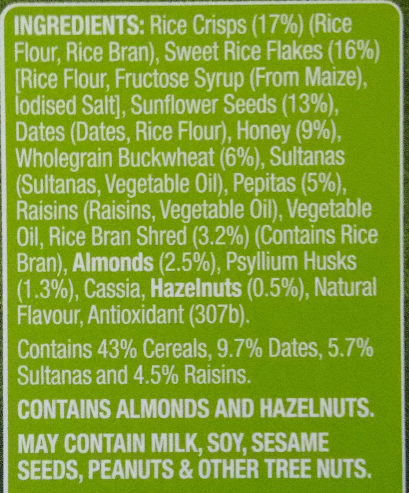 Fruity Gluten Free Muesli - Ingredients - en