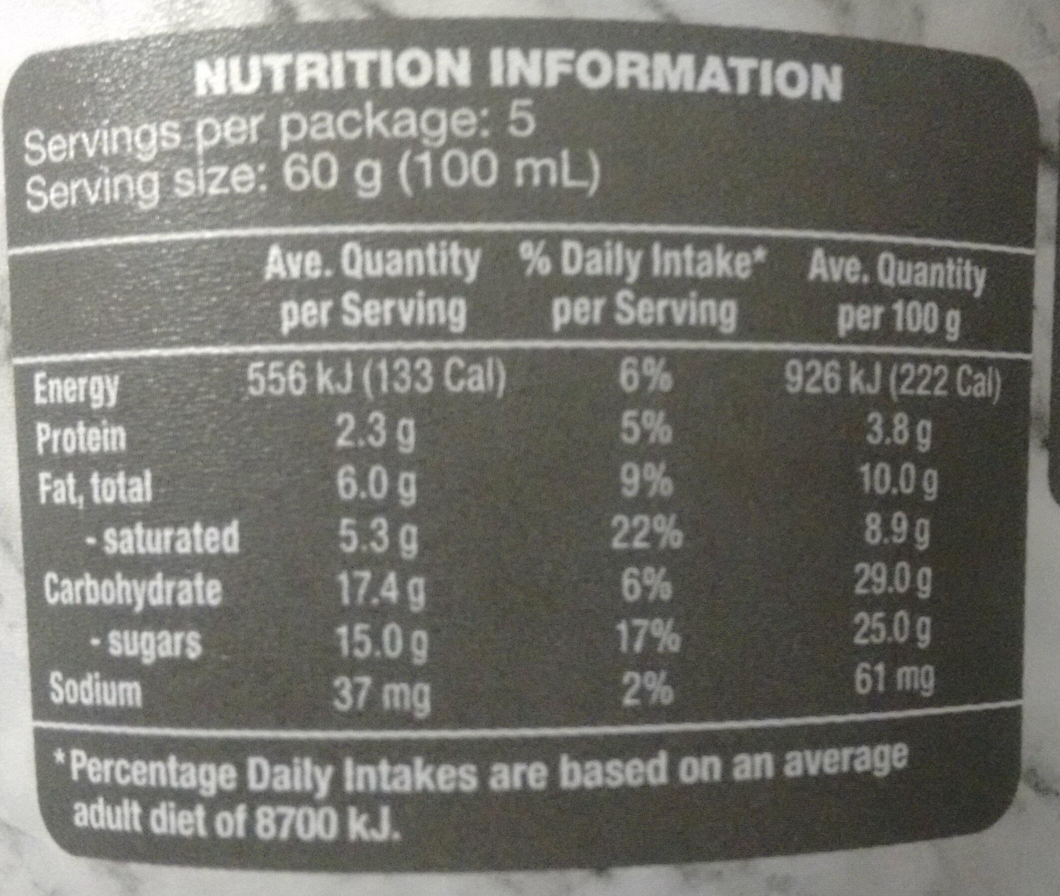 Pistachio Gelato - Nutrition facts - en