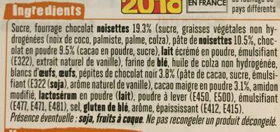 4 muffins au cacao - Ingrédients