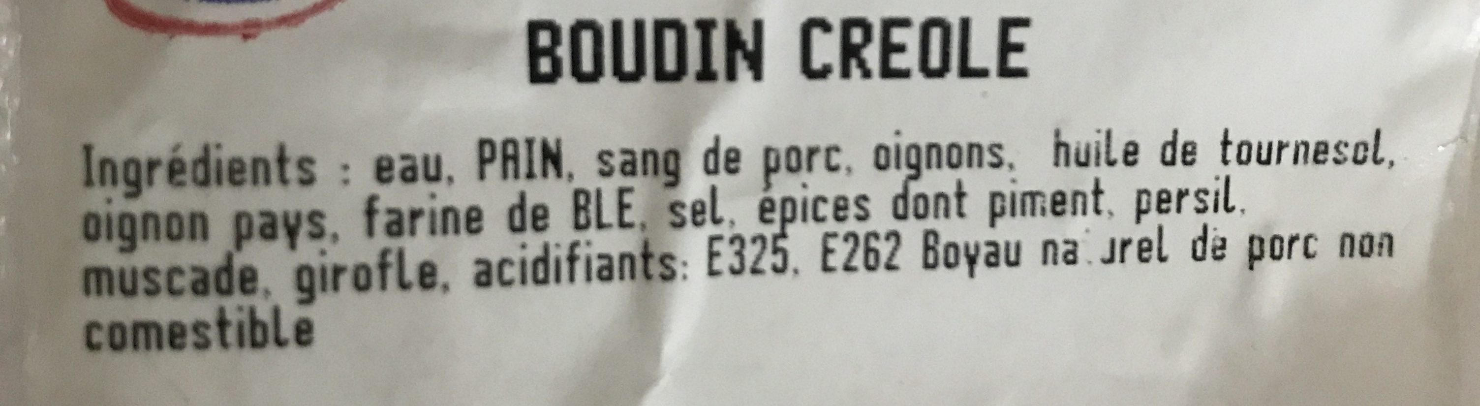 Boudin créole - Ingrédients - fr