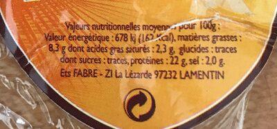 Poulet fumé - Ingrédients - fr