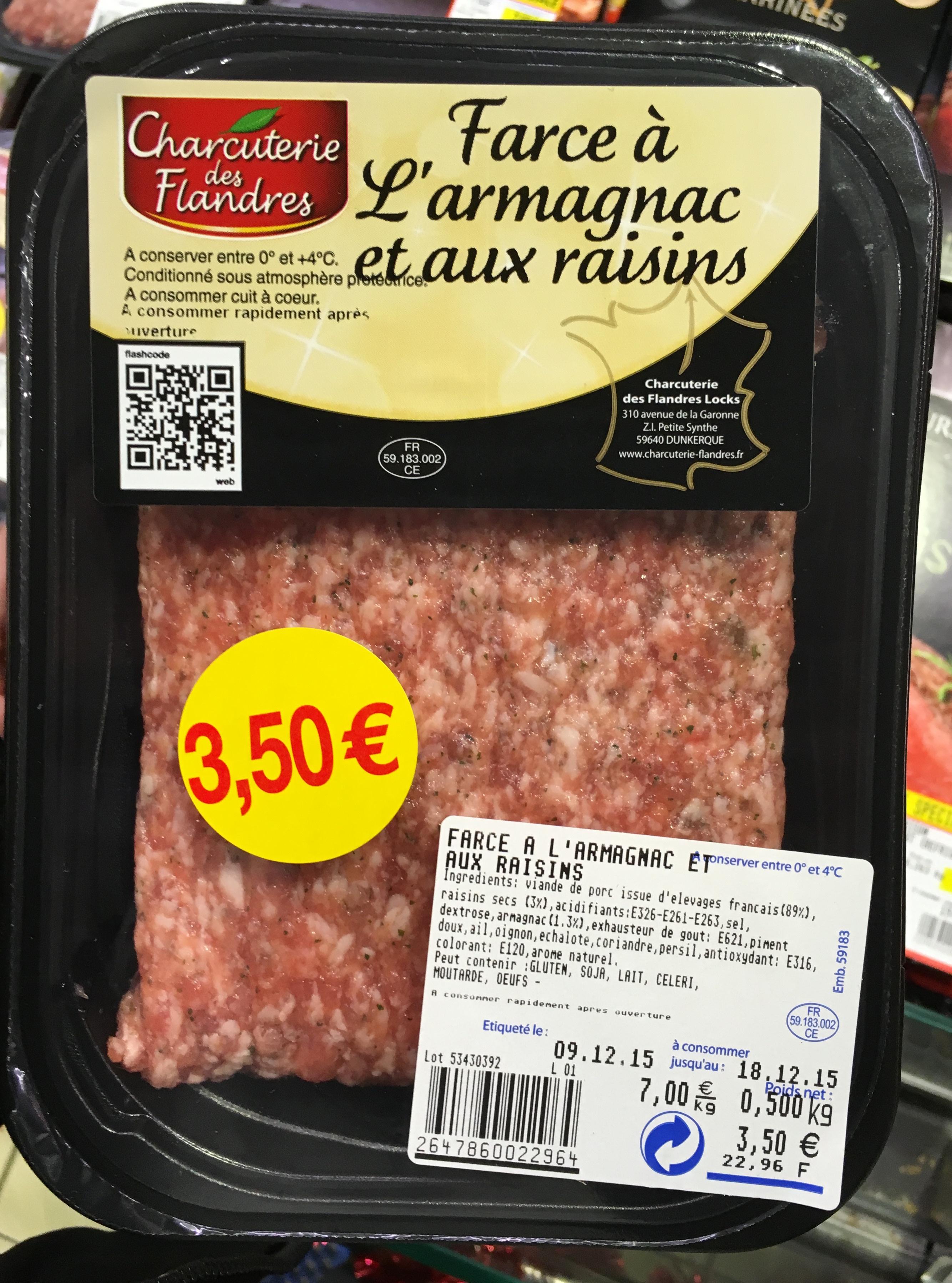 Farce à l'Armagnac et aux raisins - Product - fr