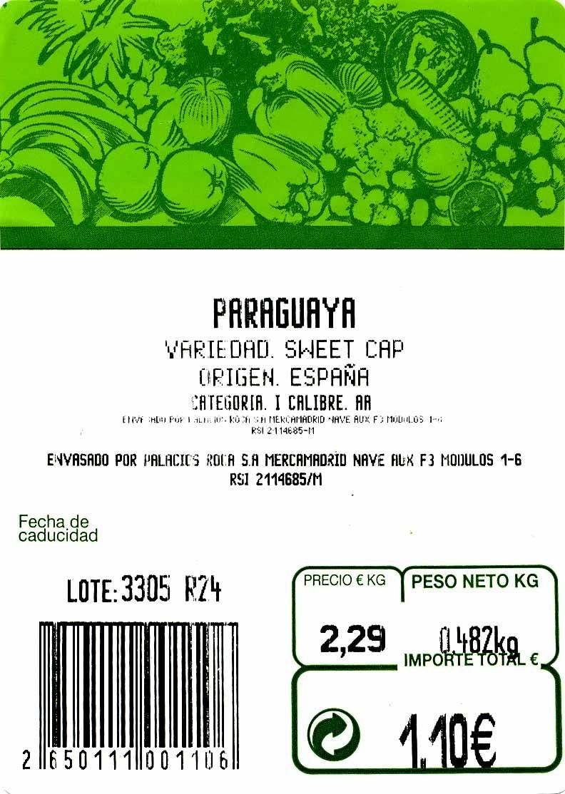 Paraguayas - Ingredientes - es