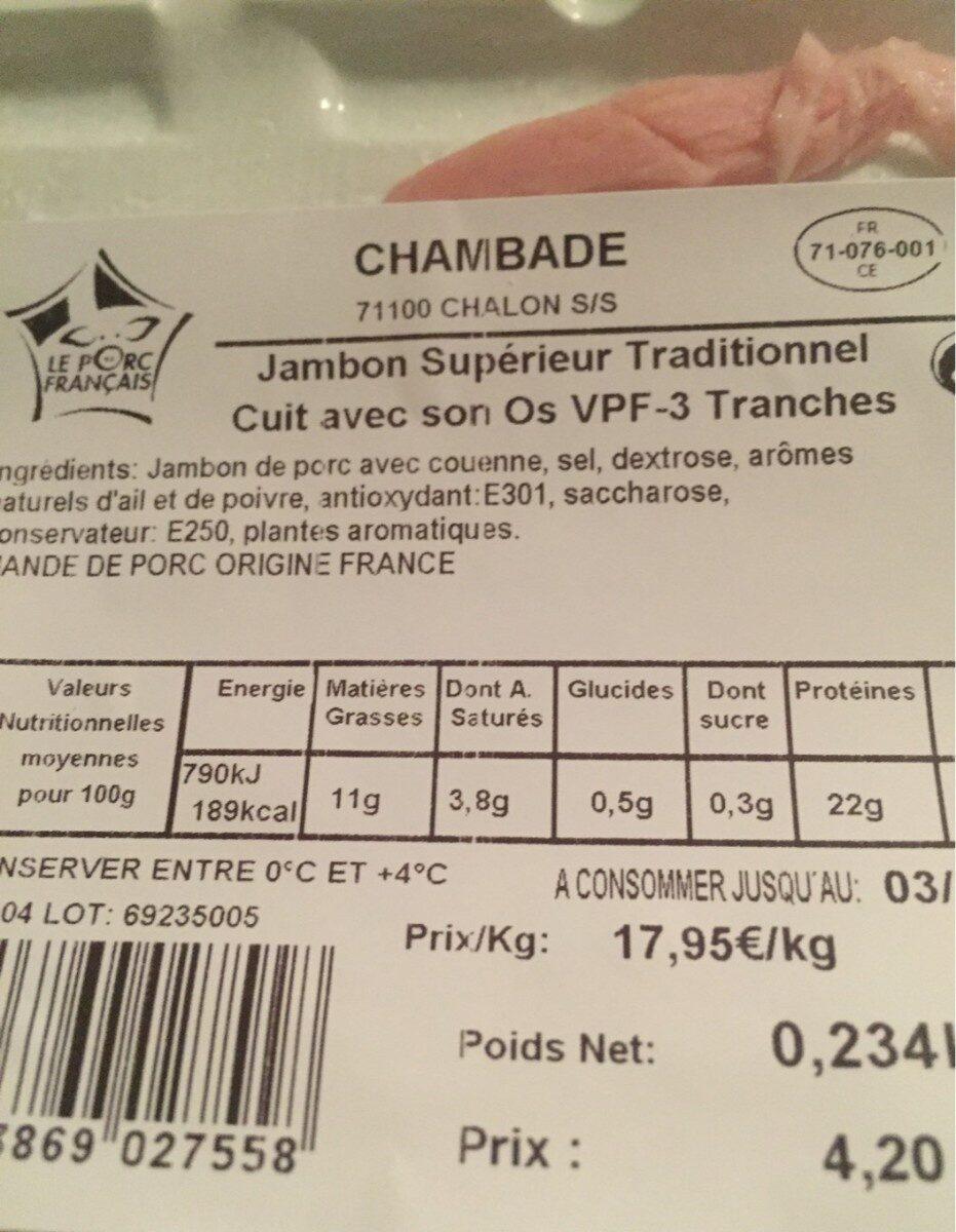 Jambon superieur traditionnel - Produkt - fr