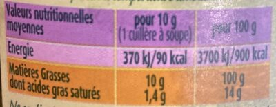PUGET BIO - Nutrition facts - fr