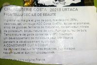 Figatellu de l'île de beauté - Ingrédients