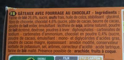 Ptit savane chocolat - Ingrédients - fr