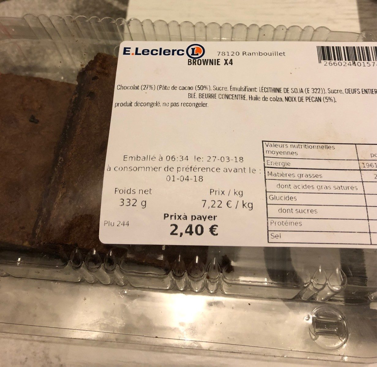 Brownie - Product