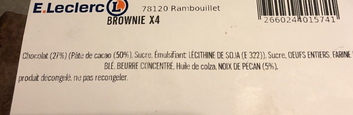 Brownie - Ingrediënten