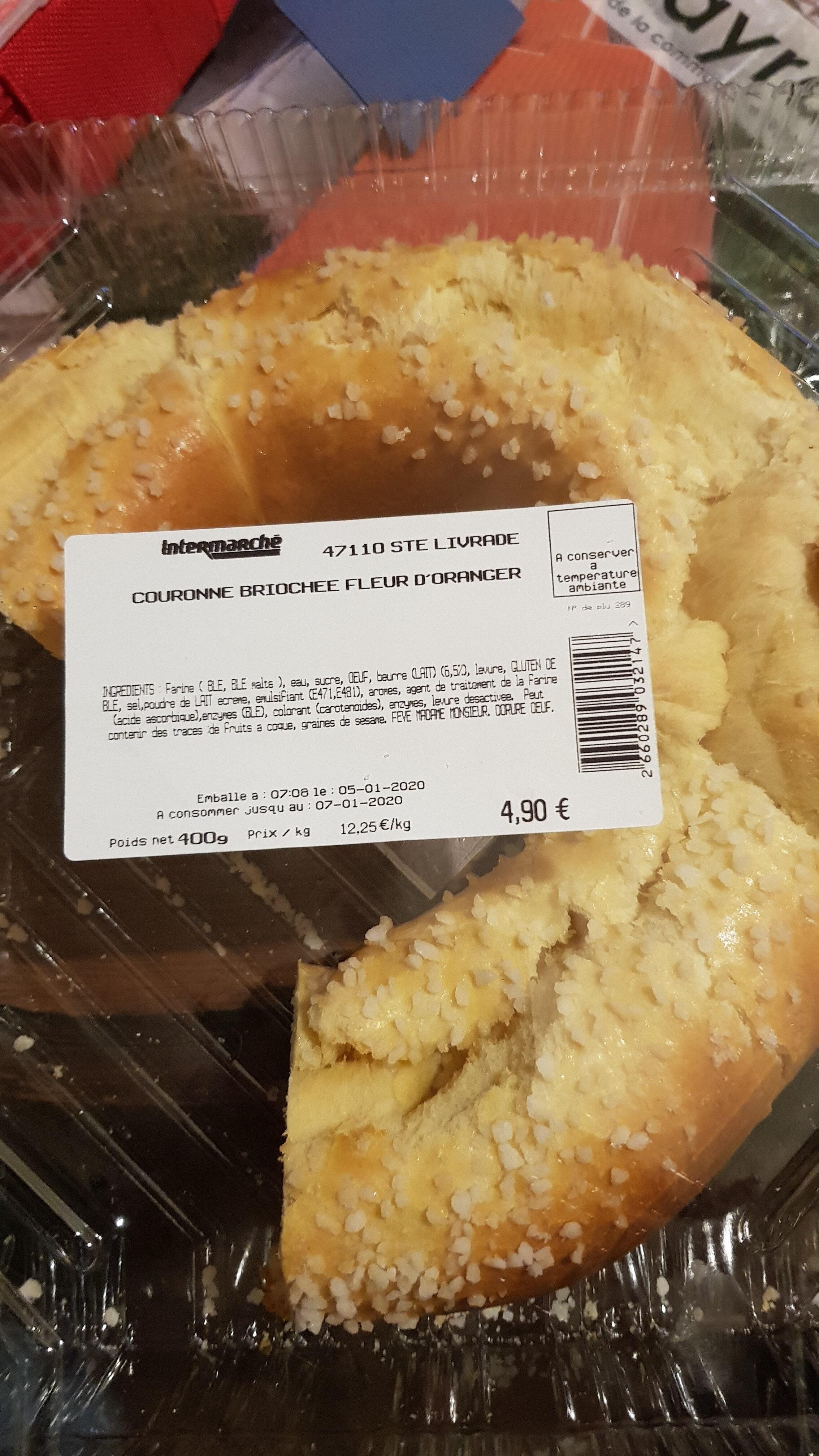 couronne briochée fleur d'oranger - Produit - fr