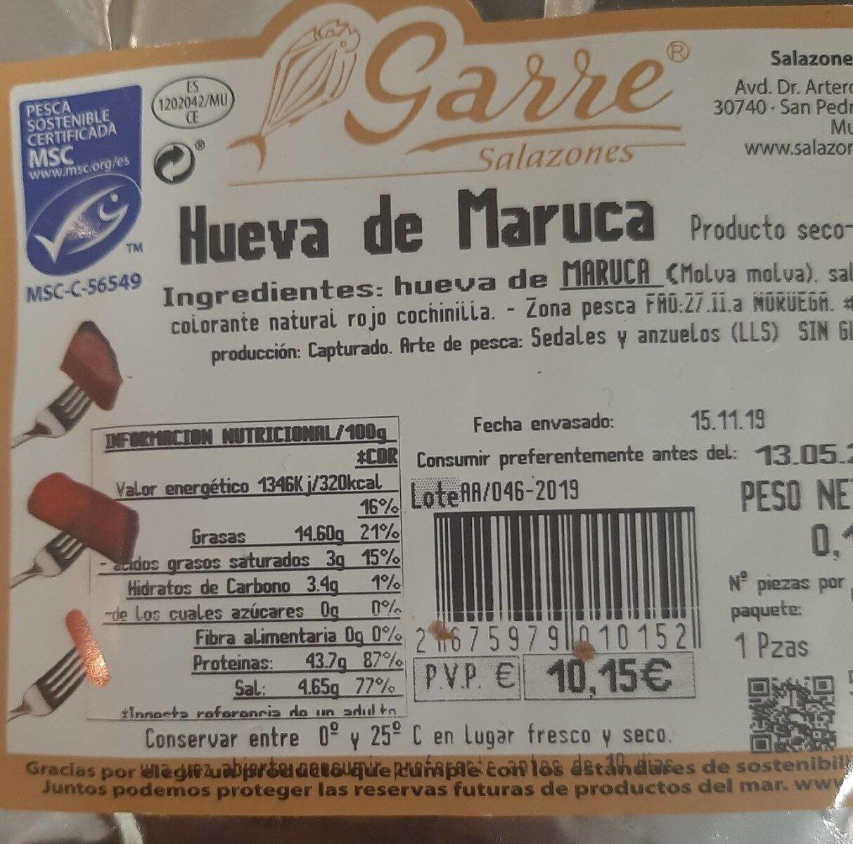Hueva de Maruca - Información nutricional - es
