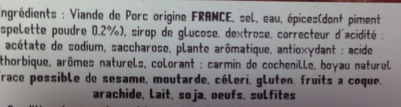 Chipolata basque au piment d'espelette - Ingrédients - fr