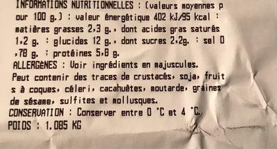 Salade cesar au poulet - Nutrition facts