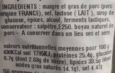 La supérieure - Ingrediënten - fr