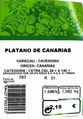 Plátano de Canarias - Ingredientes - es