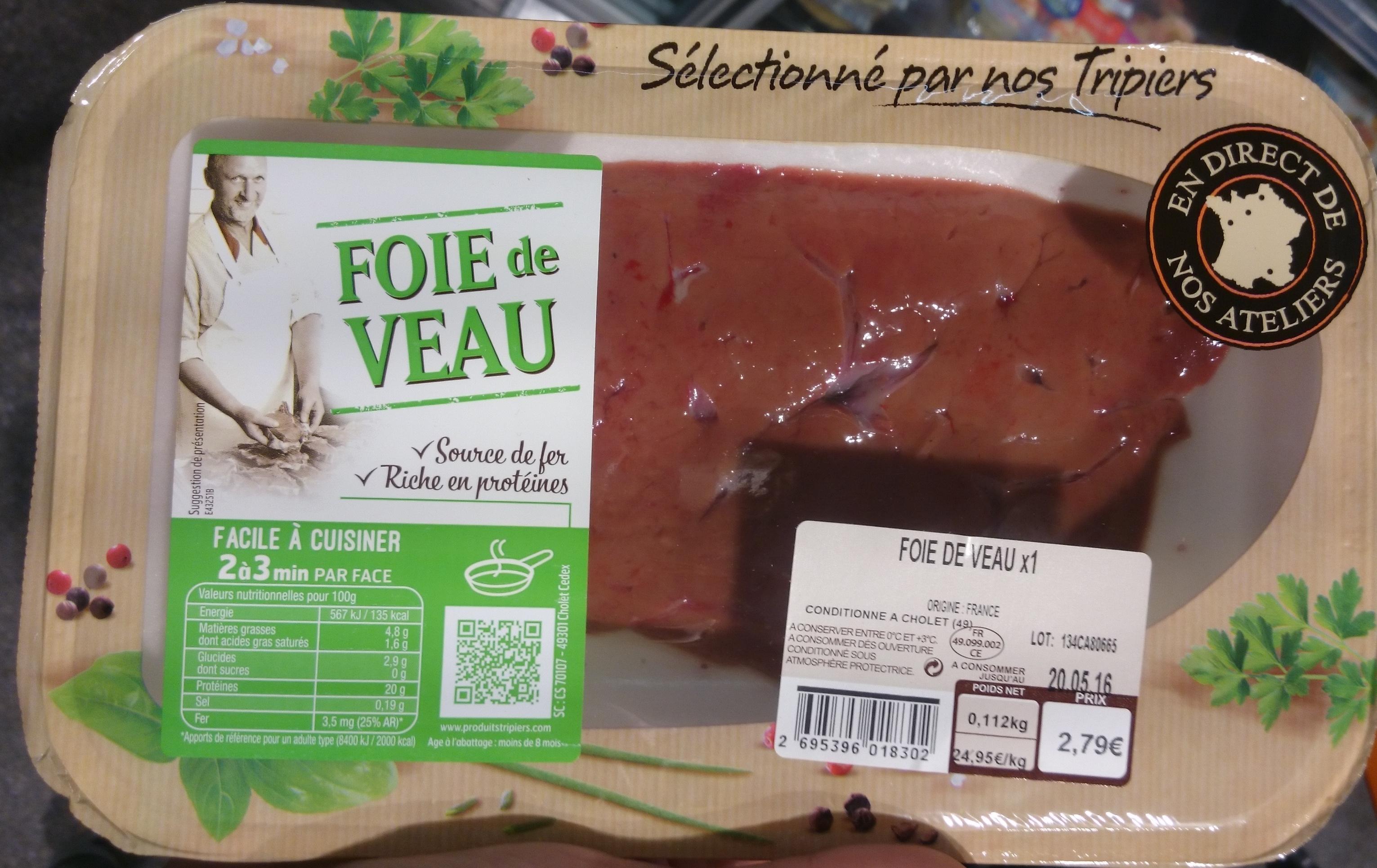 Foie de veau X1 - Produit