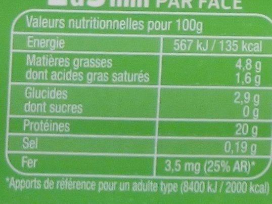 Foie de veau X1 - Informations nutritionnelles