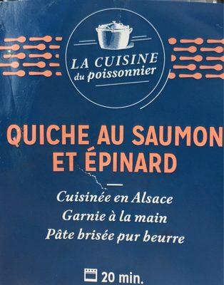 Quiche saumon et epinard - Product - fr