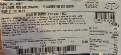 Quiche saumon et epinard - Ingrediënten - fr